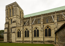 Cathedral arched windows, Chichester Royalty Free Stock Photo
