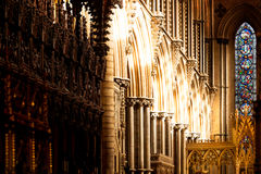 Cathedral Arches And Stained Glass Royalty Free Stock Photos