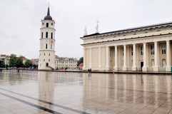 The cathedral area in rainy day Royalty Free Stock Image