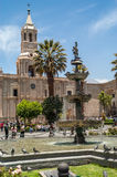 Cathedral of Arequipa Stock Images