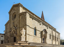 Cathedral of Arezzo. Arezzo Cathedral is a Roman Catholic cathedral in the city of Arezzo in Tuscany, Italy. It is located on the site of a pre-existing Palaeo Royalty Free Stock Images