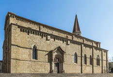 Cathedral of Arezzo. Arezzo Cathedral is a Roman Catholic cathedral in the city of Arezzo in Tuscany, Italy. It is located on the site of a pre-existing Palaeo Stock Image