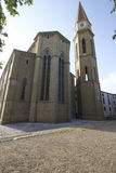 Cathedral of Arezzo Tuscan cathedral church glimpse views Royalty Free Stock Photos