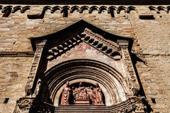 Cathedral of Arezzo Tuscan cathedral church glimpse views duomo di arezzo cattedrale toscana chiesa vista scorcio Royalty Free Stock Images