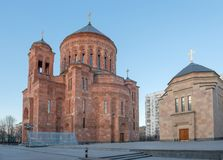Cathedral Armenian church Surb Khach (Holy Cross) Stock Images