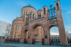 Cathedral Armenian church Surb Khach (Holy Cross) Royalty Free Stock Photography