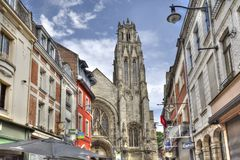 Cathedral of Arras, France Royalty Free Stock Photos