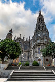 Cathedral of Arucas (Church of San Juan Bautista) on a cloudy day, Gran Canaria, Spain royalty free stock photo