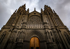 Cathedral of Arucas (Church of San Juan Bautista) on a cloudy day, Gran Canaria, Spain stock image