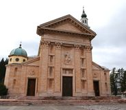 Cathedral  of Asiago in red and Pink marble Stock Image