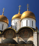 Cathedral of the Assumption. This is a vivid vertical image of The Cathedral of the Assumption (aka The Cathedral of the Dormition Stock Photography