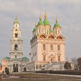 Cathedral of the Assumption of the Blessed Virgin Mary.Astrakhan` Kremlin.Russia stock photo