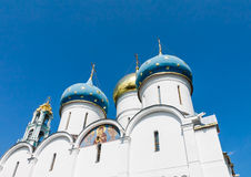 Cathedral of the Assumption of the Blessed Virgin Mary.Holy Trinity-St. Sergiev Posad Royalty Free Stock Image