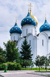 Cathedral of the Assumption of the Blessed Virgin Mary. Holy  Trinity-St. Sergiev Posad Royalty Free Stock Image