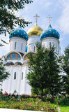 Cathedral of the Assumption of the Blessed Virgin Mary. Holy Trinity-St. Sergiev Posad Royalty Free Stock Images