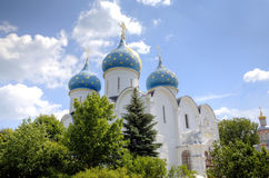 Cathedral of the Assumption of the Blessed Virgin Mary. Holy Trinity St. Sergius Lavra. Stock Photos