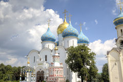 Cathedral of the Assumption of the Blessed Virgin Mary. Holy Trinity St. Sergius Lavra. Royalty Free Stock Images