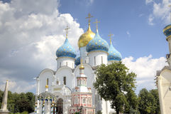 Cathedral of the Assumption of the Blessed Virgin Mary. Holy Trinity St. Sergius Lavra. Sergiev Posad, Russia Stock Photos