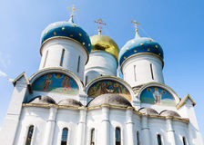 Cathedral of the Assumption of the Blessed Virgin Mary.Sergiev Posad Royalty Free Stock Photos