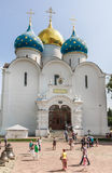 Cathedral of the Assumption of the Blessed Virgin Mary. Sergiev Posad Stock Photos