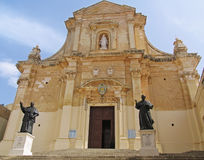 Cathedral of the Assumption, Gozo, Maltese islands. Cathedral of the Assumption on Gozo Island, Malta Royalty Free Stock Photo