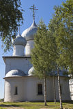 Cathedral of the Assumption of the Holy Virgin in the town of Belozersk Royalty Free Stock Images