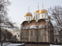 Cathedral of the Assumption in Kremlin. Russia. Royalty Free Stock Image