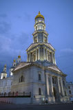 Cathedral of the Assumption at night in Kharkov Stock Photo