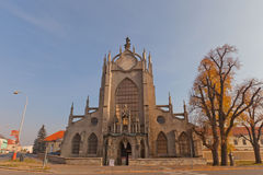 Cathedral of Assumption of Our Lady in Sedlec, Czech Republic Stock Images