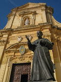 Cathedral of Assumption in Victoria, Gozo island, Malta Royalty Free Stock Photos
