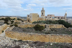 Cathedral of Assumption in Victoria, Gozo Royalty Free Stock Photo