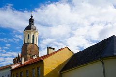 Cathedral of the Assumption of the Virgin mary, Opava, Czech Republic. Cathedral of the Assumption of the Virgin mary, Opava, Silesia, Czech Republic / Czechia Royalty Free Stock Photos