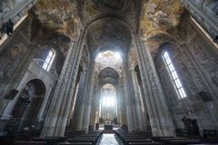 Cathedral of Asti, interior. Asti (Piedmont, Italy) - Interior of the historic cathedral Stock Image