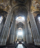 Cathedral of Asti, interior. Asti (Piedmont, Italy) - Interior of the historic cathedral Royalty Free Stock Photo