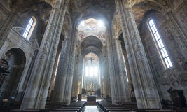 Cathedral of Asti, interior Royalty Free Stock Image