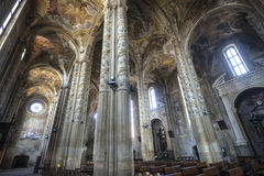Cathedral of Asti, interior. Asti (Piedmont, Italy) - Interior of the historic cathedral Royalty Free Stock Image