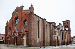 The Cathedral of Asti (Italy) Stock Photography