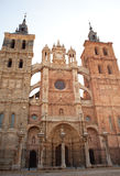 The Cathedral of Astorga Stock Photography