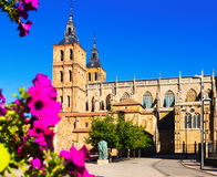 Cathedral of Astorga in summer Stock Photo