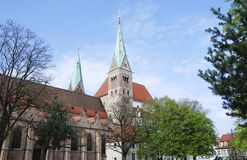 Cathedral of Augsburg Stock Images