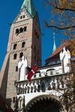 Cathedral of Augsburg Royalty Free Stock Photography