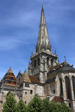 Cathedral in Autun Stock Photography