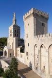 Cathedral of Avignon and Tour de la Campane Stock Photo