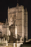 Cathedral of Avila Night Royalty Free Stock Image
