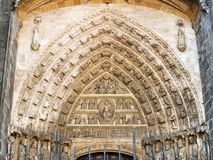 Cathedral of Avila (Spain). Details of the Gate of the Apostles (Puerta de los Apóstoles). Cathedral of Ávila. Spain Stock Images