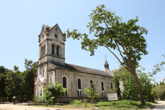 Cathedral in Bagamoyo town Royalty Free Stock Photography