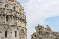 The Cathedral and the Baptisery of St. John in Pisa Royalty Free Stock Photo