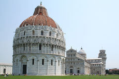Cathedral, baptistery and leaning tower, Pisa Royalty Free Stock Photography