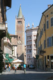 Cathedral and baptistery of Parma Stock Image