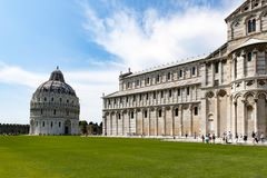 Cathedral and Baptistery, Pisa, Tuscany, Italy stock photos